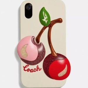 NWT Coach Cherry iPhone XR 3D Phone Case